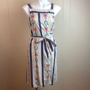 Vintage 50s/60s/70s Button Down Wrap Dress OOAK